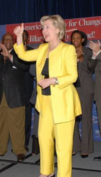 Hillary Clinton Yellow Suit