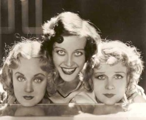 "Dorothy Sebastian, Joan Crawford and Anita Page in ""Our Dancing Daughters."" Note the rounded faces."