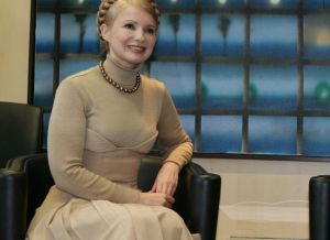 Julia Tomyshenko at EU headquarters, 1/28/07