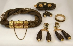 Victorian hair jewelry