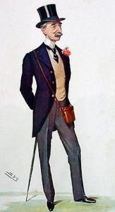 """Owner Mr. W. Hall Walker MP by Leslie Ward (""""Spy""""), 1906"""