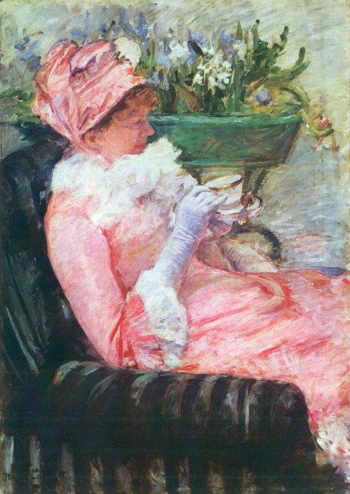 """The Cup of Tea"" by Mary Cassatt, 1879"