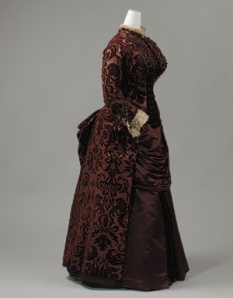 Day dress, 1883–85 by Charles Frederick Worth