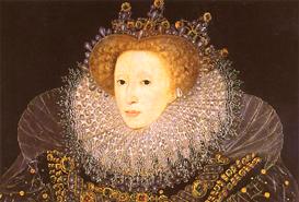 """The Ermine Portrait"" of Queen Elizabeth by Nicholas Hilliard, 1585"