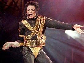 Michael Jackson in ammo military leotard 1993