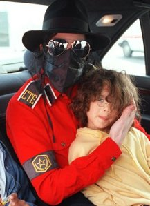 Michael Jackson in fedora military shirt 1993