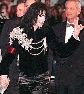 Michael Jackson royal military jacket at Elizabeth Taylors bday celebration 1997