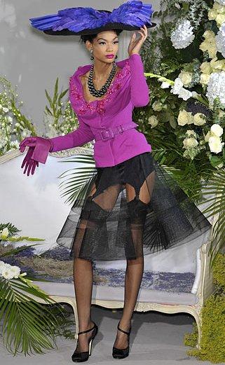 Dior F09 - sheer crinoline skirt