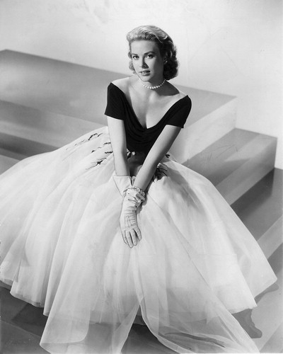 Grace Kelly in sheer Edith Head dress, Rear Window, 1954