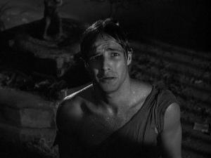 Marlon Brando torn shirt Stella scene, Streetcar Named Desire, 1951